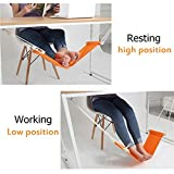 Hammock Stand Office Foot Rest Stand Desk Feet Hammock Easy to Disassemble Study Indoor by Happy2Buy (Orange)
