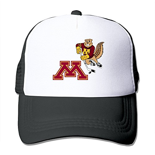 Black HGLENice Minnesota Golden Gophers Unisex Adjustable Baseball Trucker Caps One (Minnesota Golden Gophers Womens Basketball)