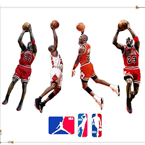 Cheap  Fangeplus(TM) DIY Removable NBA Basketball Player Jordan Art Mural Vinyl Waterproof Wall..