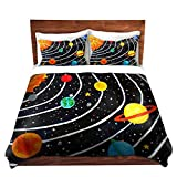 DiaNoche Designs Nicola Joyner Njoy Art Unique Home Decor Bedding Ideas Solar System Cover, 3 Queen/Full Duvet Only 88'' x 88''