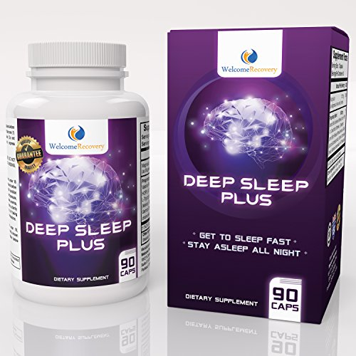 Deep Sleep Plus Natural Sleep Aid by Welcome Recovery - Non-Habit Forming Sleeping