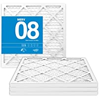 16x25x1 MERV 8 Pleated Air Filters - 16 x 25 x 1 (4-Pack) - Premium Furnace, Air Conditioner and HVAC Filter - Blocks Dust, Mites, Pet Dander, Lint, Pollen - Universal Compatibility - MervFilters