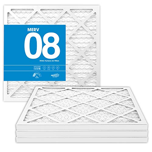 MervFilters 14x14x1 Air Filter, MERV 8, MPR 600, AC Furnace Air Filter, 4-Pack