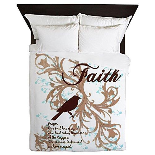 Queen Duvet Cover Faith Prayer Dove Christian Cross by Royal Lion
