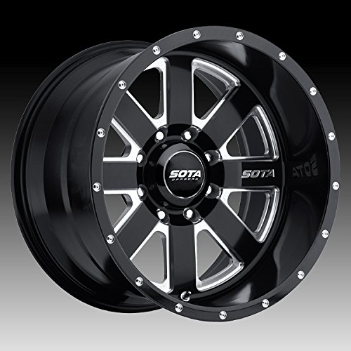 SOTA Offroad 569DM A.W.O.L. Death Metal Black Wheel with Painted Finish and 17 (22 x 12. inches /8 x 6 inches, -51 mm Offset)
