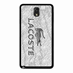 Durable Simple LACOSTE Back Rubber Shell,Fashion Brand LACOSTE Crocodile Logo Designed Phone Funda,Samsung Galaxy Note 3 Protective Skin