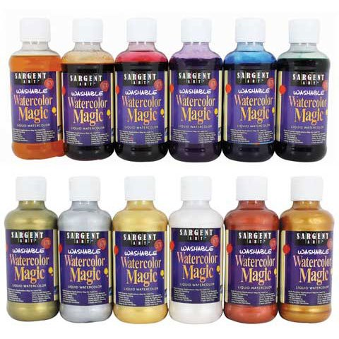 - Sargent Art - Watercolor Magic Washable Liquid Watercolor - Blue -Green