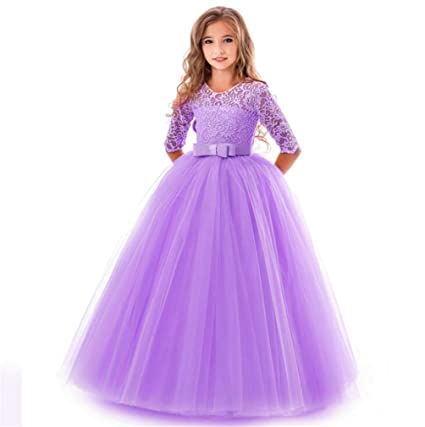 5244c5d7c Image Unavailable. Image not available for. Color: SPP PANDA Purple Flower  Girl Dresses for Weddings Age 11-12 ...