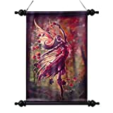 Autumn Fairy Canvas Wall Scroll Tapestry