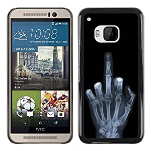 LECELL -- Funda protectora / Cubierta / Piel For HTC One M9 -- Funny X Ray Hand --