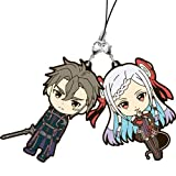 SAO Sword Art Online The Movie Ordinal Scale Rubber Strap Eiji/Yuna Set of 2 Banpresto Lottery Ichiban-Kuji Premium