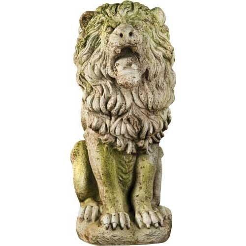 Estate Lion Statue - XoticBrands OSFS68325 Roman Estate Lion 30 Garden Animal Statue