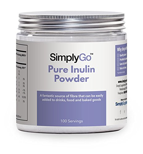 Inulina pura en polvo 500gr - Gran fuente de fibra soluble - Suplemento prebiótico - Apto