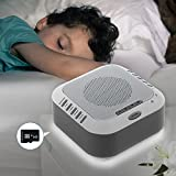 Sound Machine with 2Gb TF Card,5 Smoothing Natural Sound,Alarm Clock,Rain,Ocean,Lullaby,White Noise Sound Machine for Adults Baby Kids Sleeping