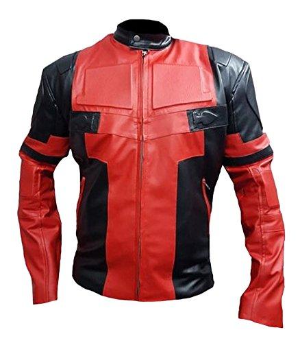 Coolhides Fashion Deadpool Leather Jacket product image