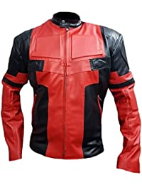 Mens Deadpool Motorcycle Leather Jacket High Quality