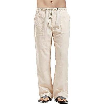 Mens Yoga Long Pants Cotton Casual Wide Leg Beach Summer Lounge Trousers XL-3XL