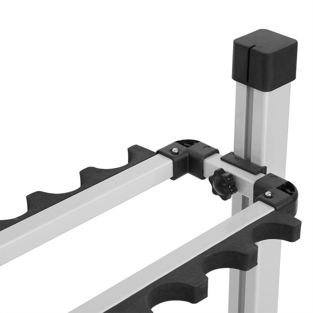 24 Slots EBTOOLS Rutenst/änder Angelrutenst/änder Rutenhalter Rutenablage Titanlegierung mit schwarzem Gestell 72 x 32,7 x 72,1 cm