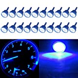 07 impala ss accessories - CCIYU 20 Pack Blue T10 W5W 912 194 161 168 COB LED Car Instrument Dash Light Side Wedge Bulbs 12V