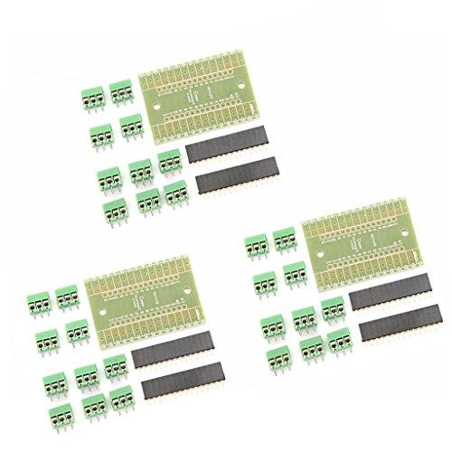 ターミナル アダプタ 拡張モジュール Arduino NANO IOシールドV1.0用 DIYキット 3セット