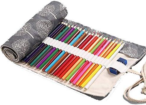 Lienzo Stifter Olle estuche Roll-up estuche lápices móvil estuche carpeta de lona capacitivo para Make Up Escuela Oficina de, 48holes: Amazon.es: Oficina y papelería