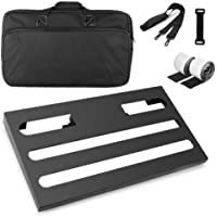 """Soyan Large Metal Guitar Pedal Board 22"""" x 12.6"""" with Carrying Bag, Self Adhesive Hook & Loop Tapes Included"""