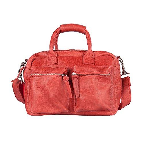 para cuero Bolso de rojo asas de mujer Red Cowboysbag Rot d7qXwIX