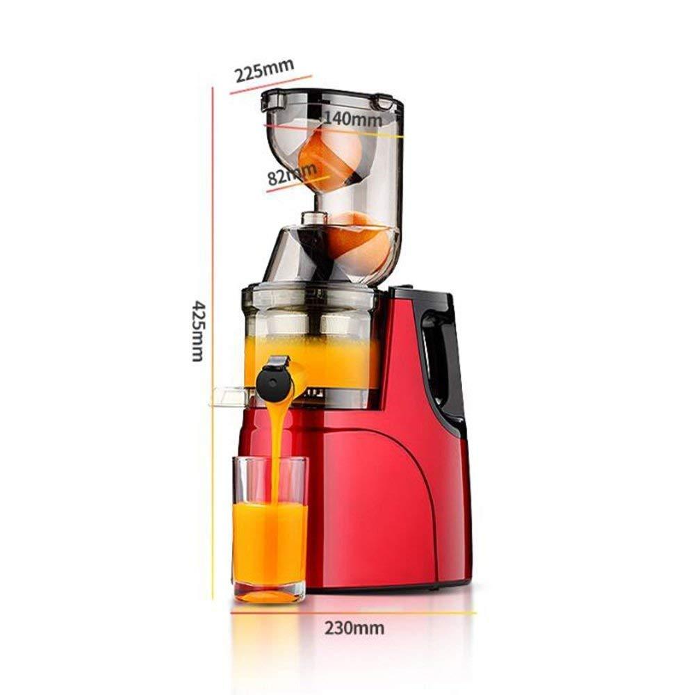HhGold Exprimidor de Jugo Exprimidor de Gran diámetro Exprimidor automático de Jugo Exprimidor de Frutas y Verduras Multifuncional, Rojo (Color : 115.99, ...