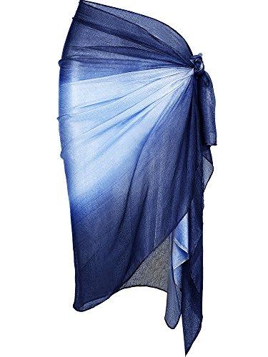 Zhanmai Women's Chiffon Sarong Wrap Beach Swimsuit Bikini Sarong Pareo Wrap for Summer Vacation Wearing (Color 9)