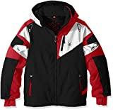 Spyder Boys Leader Jacket, Size 12, Black/Formula/White