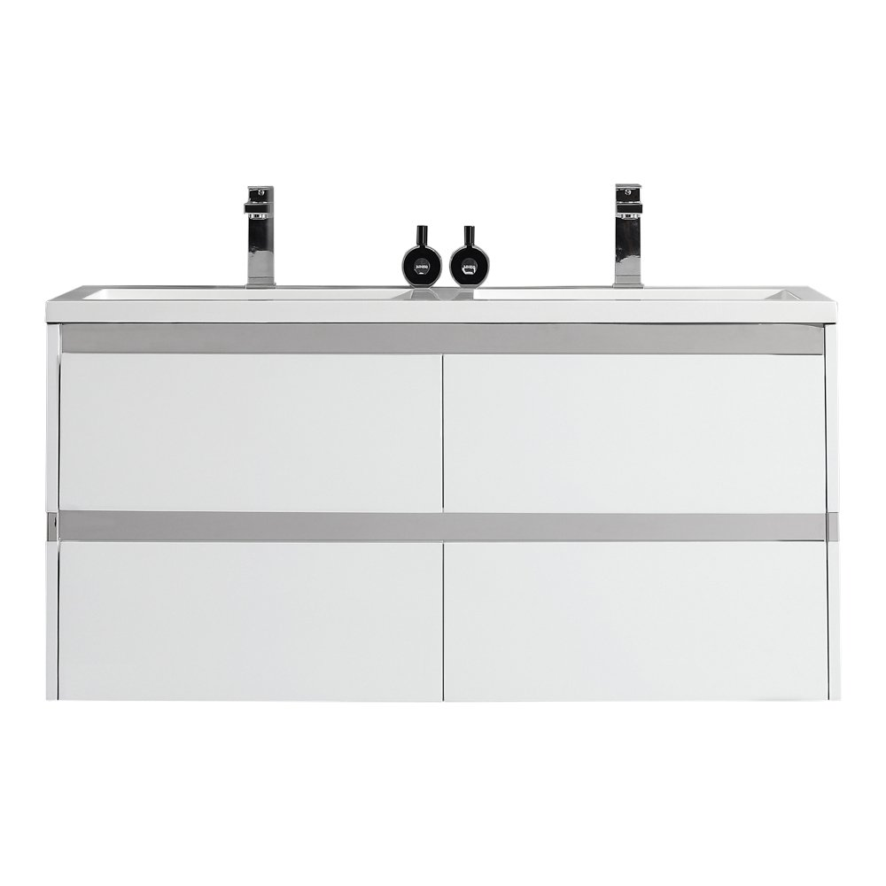 Ove Decors Durante 48 Durante Floating Double Sink Bathroom Vanity