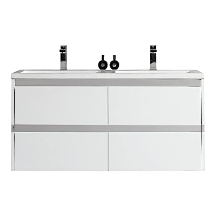 Ove Decors Durante Durante Floating Double Sink Bathroom Vanity - 48 inch floating bathroom vanity