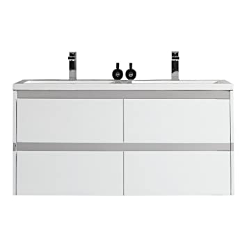 Surface Mount Medicine Cabinet Beveled Mirror And Pegasus · 48 Inch Modern  Design Bathroom Double Vanities Sinks ...