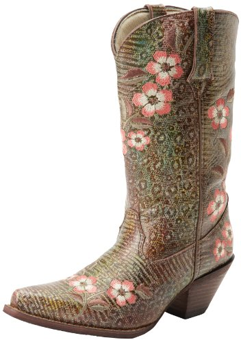 Western RD3564 Rainbow Crush Boot Floral Rainbow Leopard Women's Durango Rainbow qXwI7gc14H