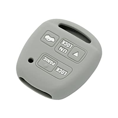 SEGADEN Silicone Cover Protector Case Skin Jacket fit for TOYOTA LEXUS 3 Button Remote Key Fob CV2423 Gray: Automotive