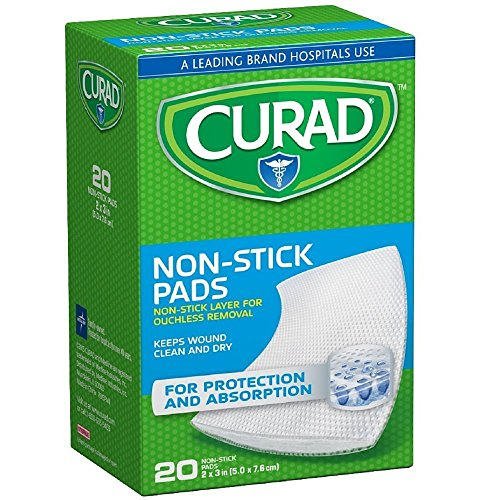 Curad Small Non-Stick Pads 2 x 3 in 20 ea ( Pack of 4)