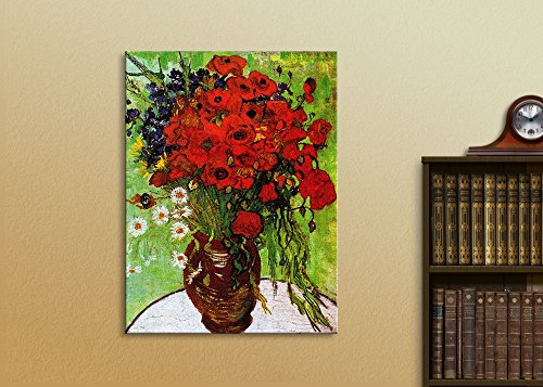 Red Poppies Daisies Vincent Van Gogh Oil Painting Reproduction