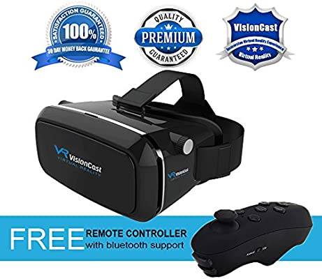 fa9cc1141186 Amazon.com  Virtual Reality Headset - 360° VR Goggles for iPhone 6 6 ...