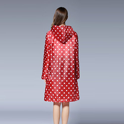 Red Dark Dots Para Abrigo Mujer Yeshi wIqAHWO16