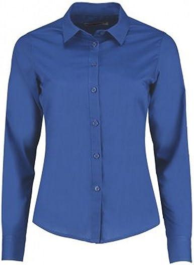 Kustom Kit Camisa entallada de manga larga con cuello