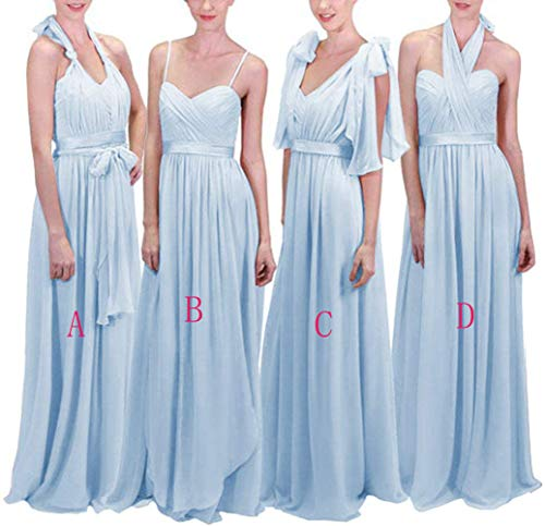 af480d3072b Meaningful Women s Infinity Transformer Convertible Chiffon Long Bridesmaid  Dresses 2018 Size 12-C