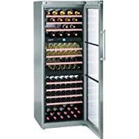 WS17800 28 Freestanding Triple Temperature Zone Wine Cabinet with 17.7 cu. ft. Capacity 178 Bottle Capacity UV-Resistant Lock LED Lighting and Charcoal Filter in Stainless Steel