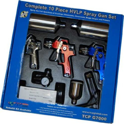 ATD Tools 6900 9-Piece HVLP Spray Gun Set (Best Hvlp Gun For The Money)