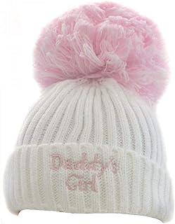 Soft Touch Daddy's Girl/Boy Knitted Pom Pom Hat (Newborn to 12 Months)