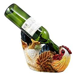 Ebros Gift Country Farm Drunken Hen Chicken Wine Holder Bottle Caddy Figurine 9.75 Long