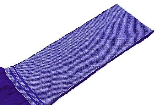 帯揚げ 濃藍色 ブルー 正絹 四つ巻 無地 総絞り 鹿の子 帯あげ おびあげ 成人式向き 振袖向き ふりそで