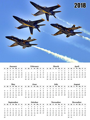 (2018 Calendar Poster US Military Navy Blue Angels Calendar)