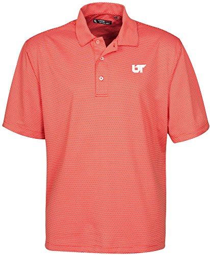 Oxford NCAA Tennessee Volunteers Men's Links Tech Stretch Tonal Jacquard Short Sleeve Polo Shirt, XX-Large, Sun Kissed -