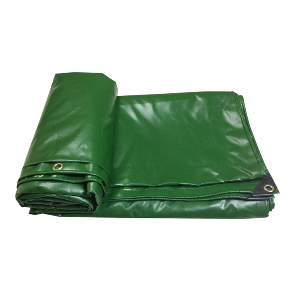 CHAOXIANG オーニング 防水シート厚いキャンバス両面防水耐寒性日よけ日焼け止め耐腐蝕防塵軽量PVCグリーン、500g/m2、厚さ0.4mm、13サイズ (色 : 緑, サイズ さいず : 2x2m) B07DC494QC 2x2m|緑 緑 2x2m