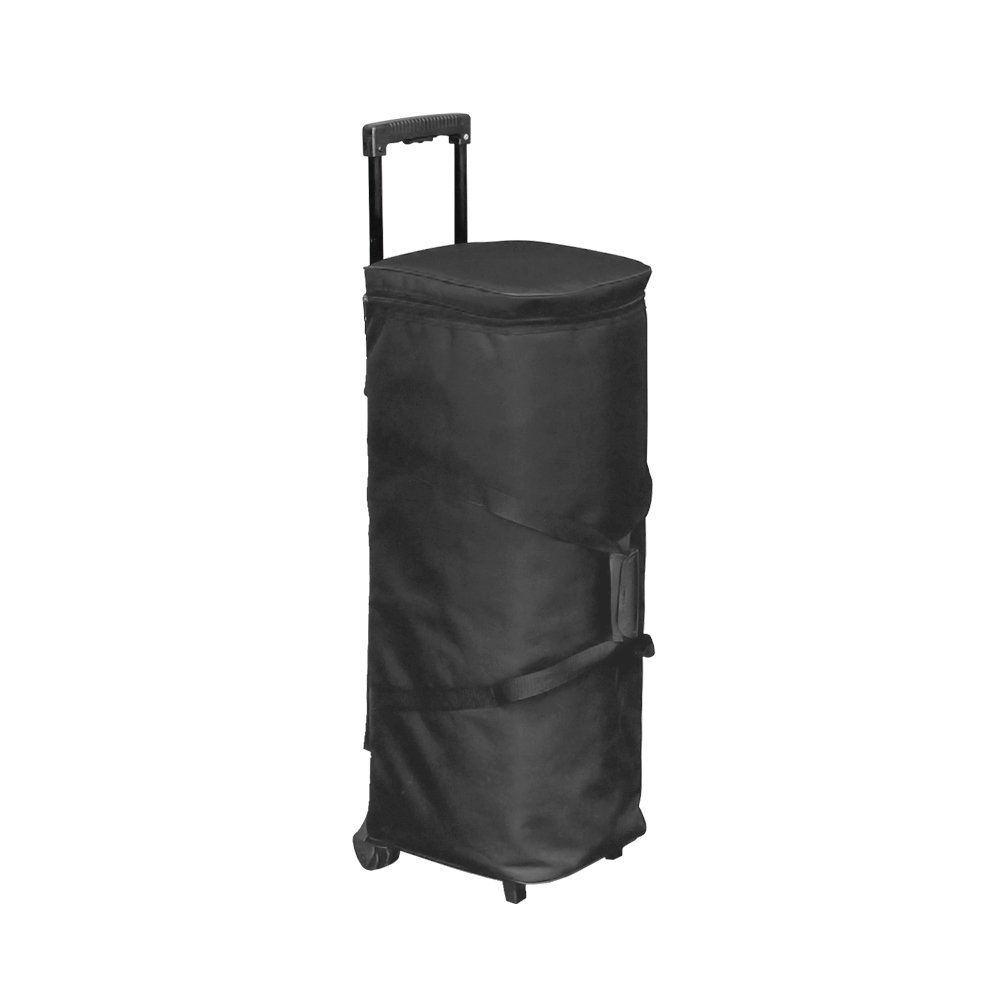 Vispronet Carrying Cases for Trade Show Accessories - Zipper Top and Trolley with Retractable Handle (9.4x7.3)